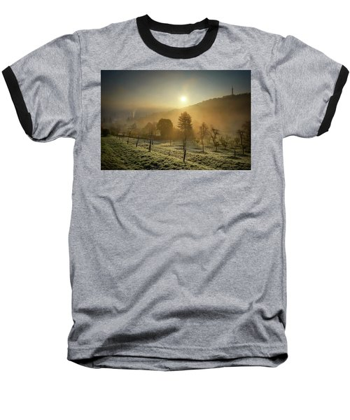 Sunrise From Petrin Yard In Prague, Czech Republic Baseball T-Shirt