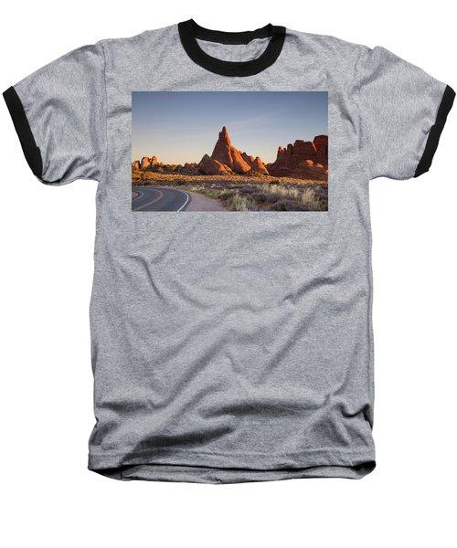 Sunrise In Arches National Park Baseball T-Shirt