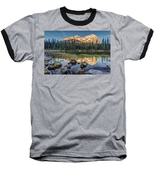 Sunrise In The Rocky Mountains Baseball T-Shirt by Pierre Leclerc Photography