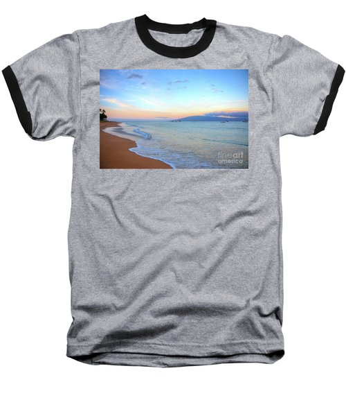 Sunrise On Kaanapali Baseball T-Shirt
