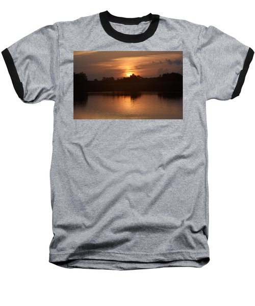 Sunrise On The Bayou Baseball T-Shirt
