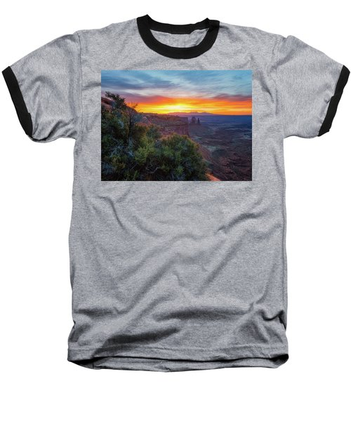Baseball T-Shirt featuring the photograph Sunrise Over Canyonlands by Darren White