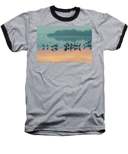 Sunrise Over The Hula Valley Baseball T-Shirt by Dubi Roman