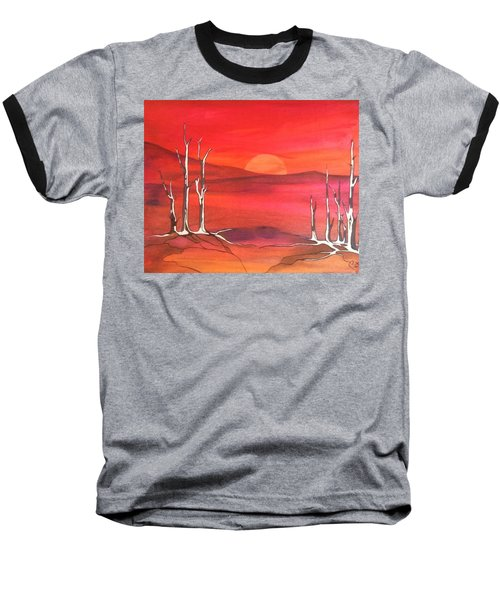 Baseball T-Shirt featuring the painting Sunrise by Pat Purdy