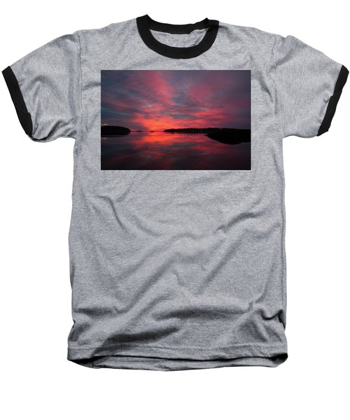 Sunrise Reflection Baseball T-Shirt