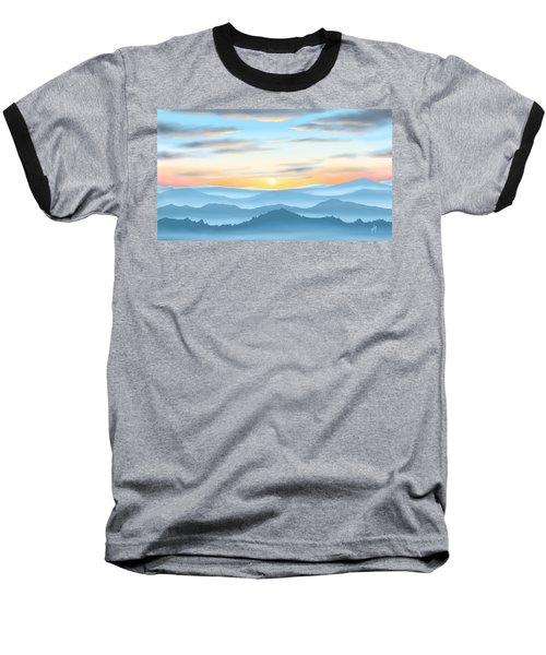 Baseball T-Shirt featuring the painting Sunrise by Veronica Minozzi