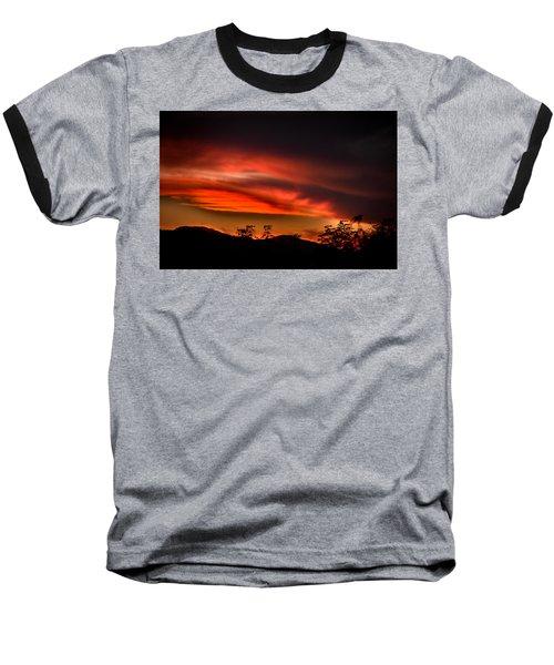 Sunset Baseball T-Shirt by Alessandro Della Pietra