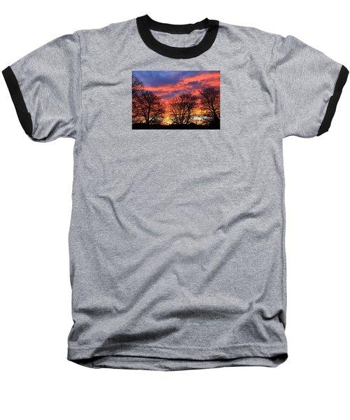 Baseball T-Shirt featuring the photograph Sunset And Filigree by Nareeta Martin