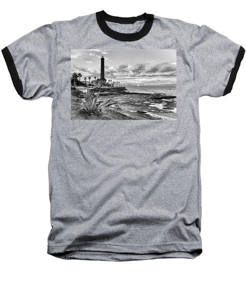 Baseball T-Shirt featuring the photograph Sunset At Chipiona Lighthouse Cadiz Spain by Pablo Avanzini