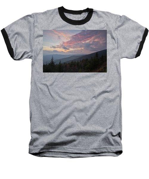 Sunset At Clingman's Dome Baseball T-Shirt