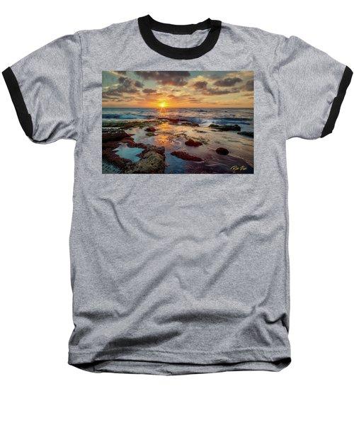 Baseball T-Shirt featuring the photograph Sunset At La Jolla  by Rikk Flohr