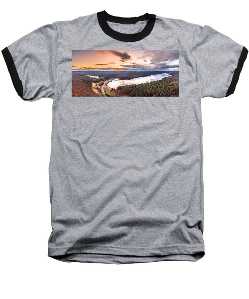 Baseball T-Shirt featuring the photograph Sunset At Saville Dam - Barkhamsted Reservoir Connecticut by Petr Hejl