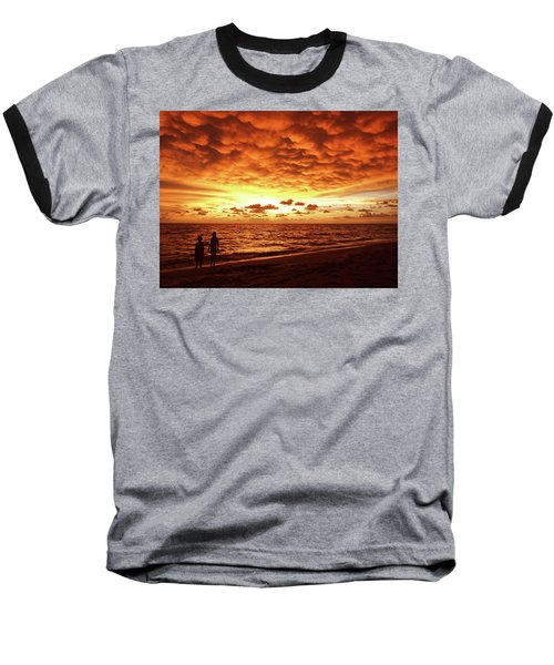 Baseball T-Shirt featuring the photograph Sunset Before The Storm by Melanie Moraga