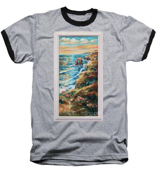 Sunset Cliffs Baseball T-Shirt