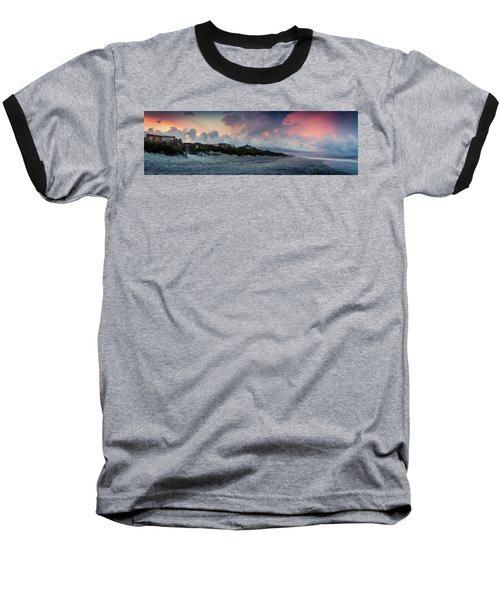 Sunset Emerald Isle Crystal Coast Baseball T-Shirt
