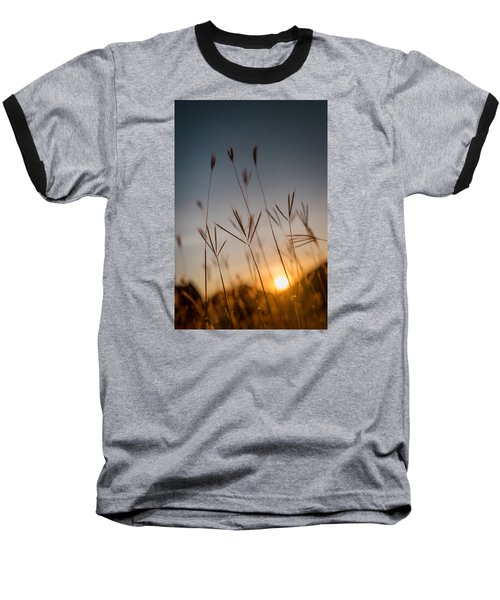 Sunset Grass Baseball T-Shirt