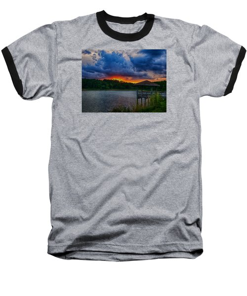 Sunset Huntington Beach State Park Baseball T-Shirt by Bill Barber