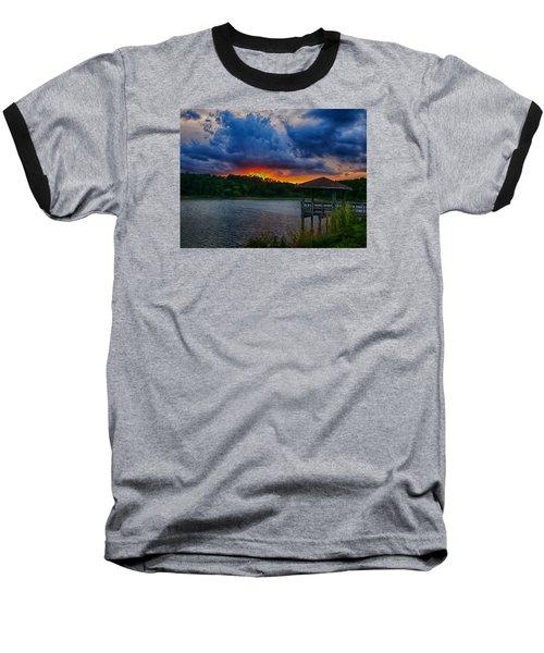 Baseball T-Shirt featuring the photograph Sunset Huntington Beach State Park by Bill Barber