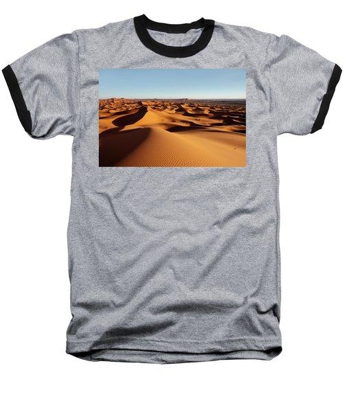 Sunset In Erg Chebbi Baseball T-Shirt by Aivar Mikko