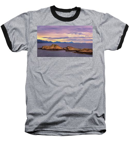 Sunset In The North Baseball T-Shirt