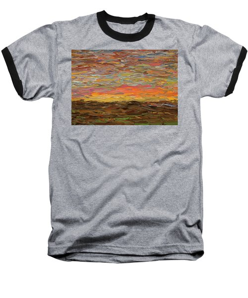Sunset Baseball T-Shirt by James W Johnson