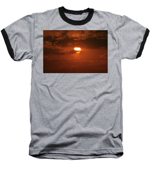 Baseball T-Shirt featuring the photograph Sunset by Linda Ferreira