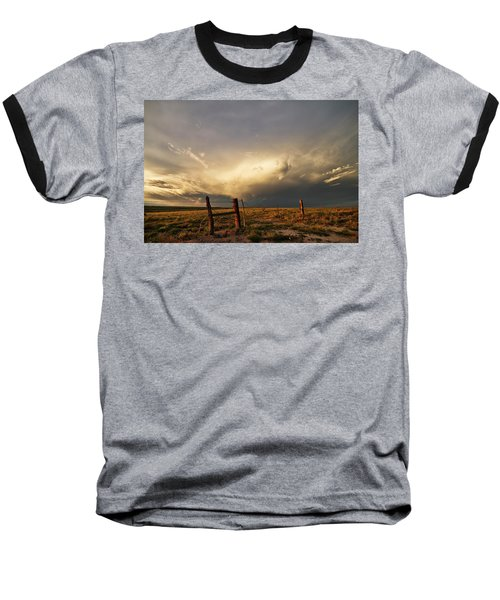 Sunset Near Santa Rosa New Mexico Baseball T-Shirt