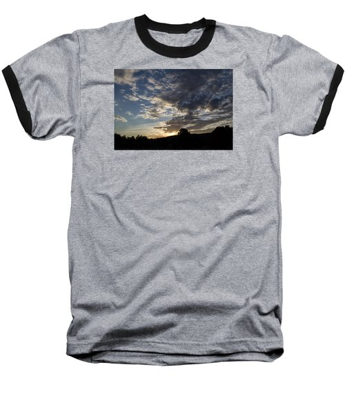 Sunset On Hunton Lane #1 Baseball T-Shirt