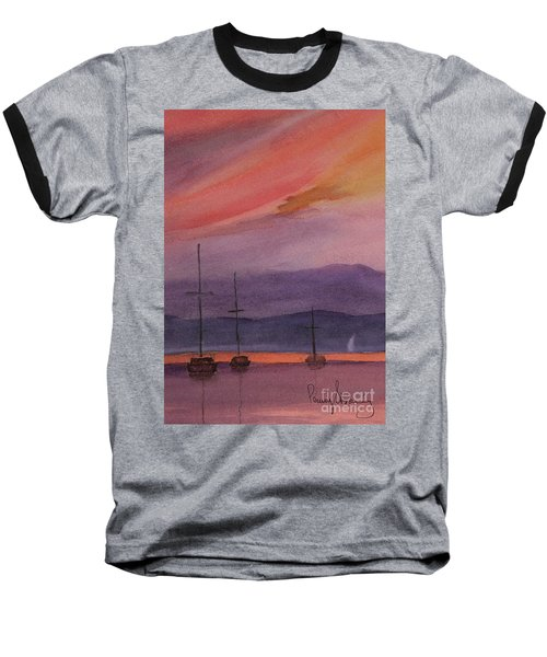 Sunset On Madeline Island Baseball T-Shirt