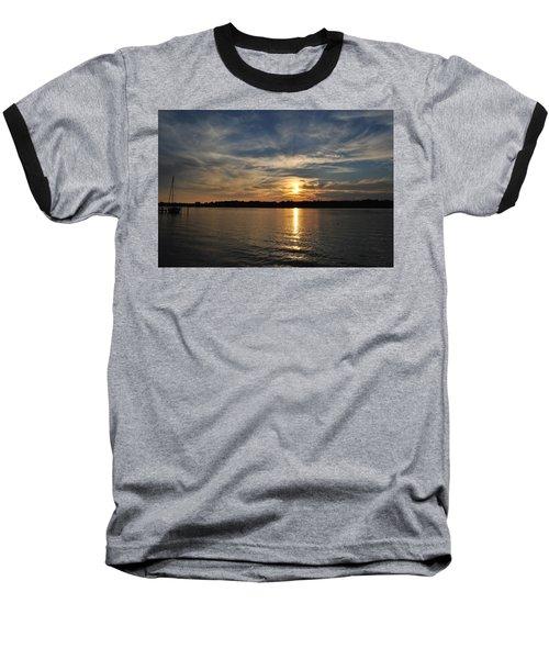 Sunset On The Bayou Baseball T-Shirt