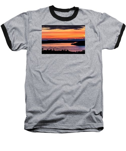 Baseball T-Shirt featuring the photograph Sunset Over Hail Passage On The Puget Sound by Rob Green