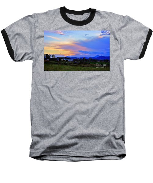 Sunset Over The Great Divide Baseball T-Shirt