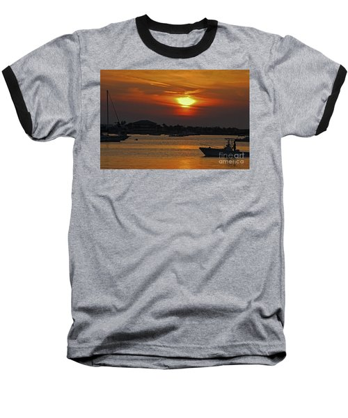 Baseball T-Shirt featuring the photograph 1- Sunset Over The Intracoastal by Joseph Keane