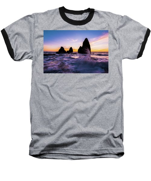 Sunset Splash Baseball T-Shirt