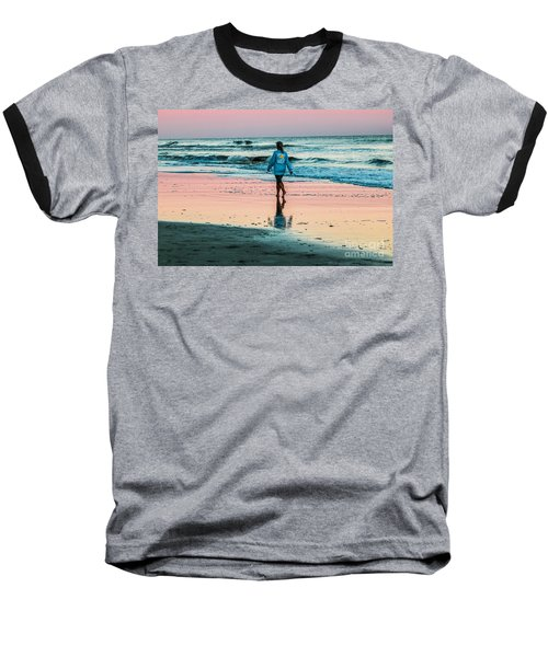 Sunset Stroll In The Surf Hilton Head Baseball T-Shirt