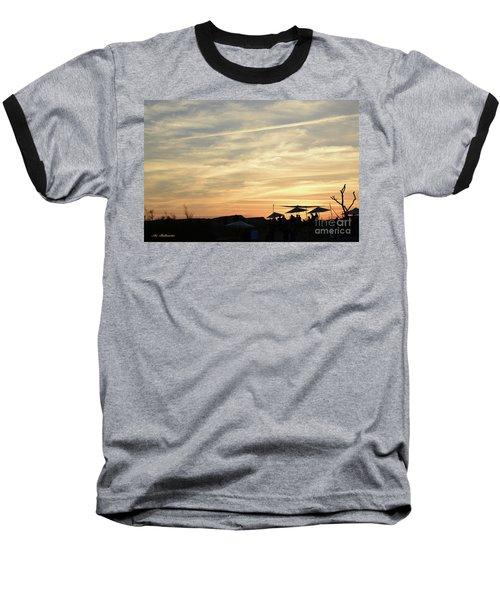 Sunset View Baseball T-Shirt by Arik Baltinester