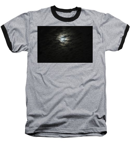 super moon II Baseball T-Shirt by Irma BACKELANT GALLERIES