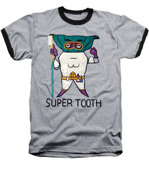 Super Tooth Baseball T-Shirt