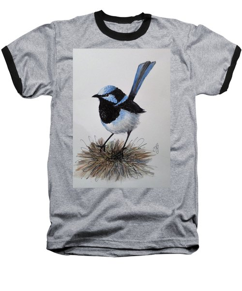 Superb Blue Wren Baseball T-Shirt