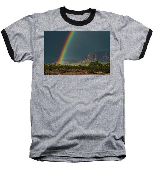 Baseball T-Shirt featuring the photograph Superstition Rainbow  by Saija Lehtonen