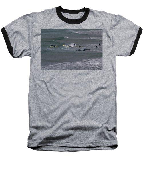 Photographs Of Cornwall Surfers At Fistral Baseball T-Shirt