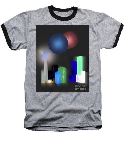 Surreal City Baseball T-Shirt by John Krakora