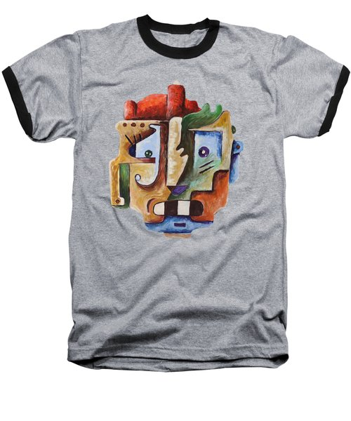 Surrealism Head Baseball T-Shirt