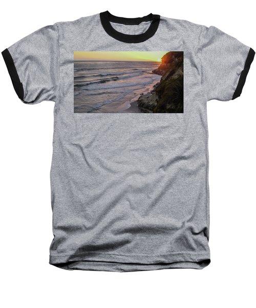 Swamis Sunset Baseball T-Shirt by Mark Barclay
