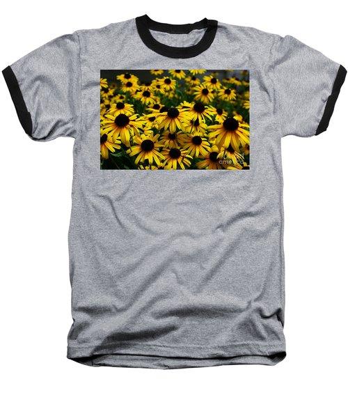 Sweet Flowers Baseball T-Shirt by John S