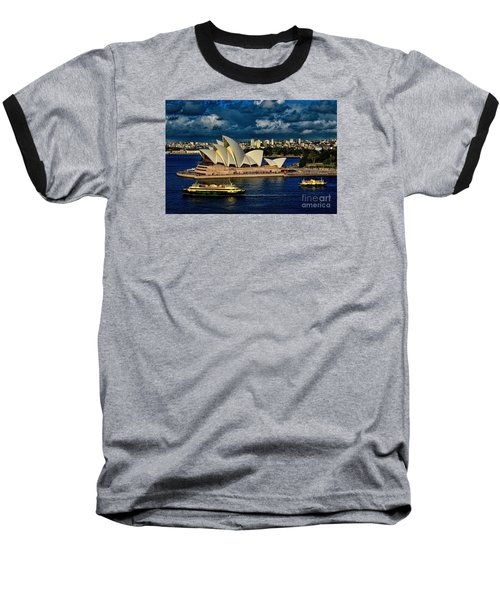 Sydney Opera House Australia Baseball T-Shirt by Diana Mary Sharpton