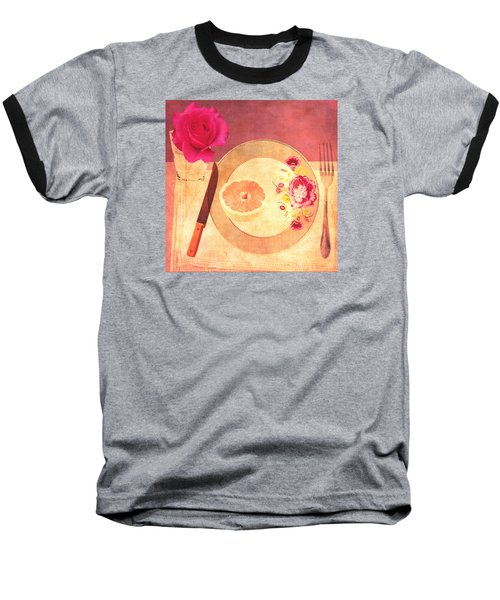 Baseball T-Shirt featuring the digital art Tablescape by Lisa Noneman