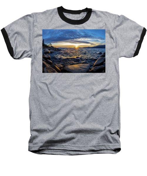 Tahoe Sunset Baseball T-Shirt