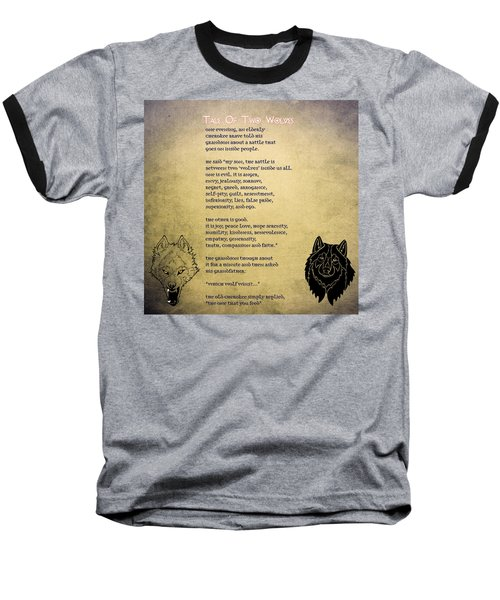 Tale Of Two Wolves - Art Of Stories Baseball T-Shirt