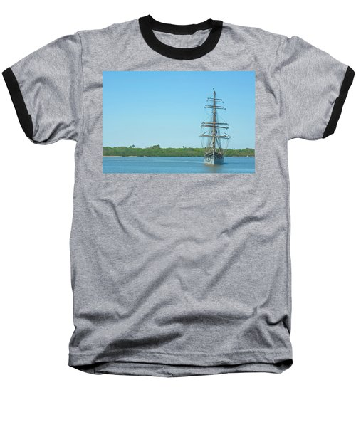 Tall Ship Elissa Baseball T-Shirt